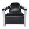 Lazzaro Leather Halton Bomber Arm Chair