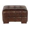 Lazzaro Leather Nautical Leather Ottoman