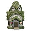 Exhart Solar Cottage Leaf Roof Statue
