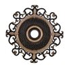 """Minka Aire Napoli 38"""" Ceiling Medallion in Sterling Walnut"""