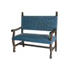 New World Trading Spanish Heritage Leather Entryway Bench