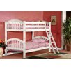 InRoom Designs Twin Over Twin Arched Bunk Bed with Ladder and Safety Rail