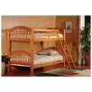 InRoom Designs Arched Twin Bunk Bed with Built-In Ladder