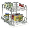 "Household Essentials Glidez 17.75"" x 14.5"" 2 Tier Sliding Organizer"