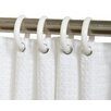 Zenith Products Plastic Shower Curtain (Set of 12)