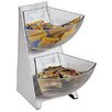 Paderno World Cuisine 2-Compartment Stainless Steel Condiment Tower Bins