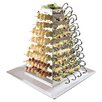 Paderno World Cuisine Stainless Steel Rotating Serving Pyramid Buffet