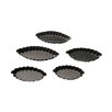 "Paderno World Cuisine 2.12"" Non-Stick Fluted Boat Mold (Set of 10)"