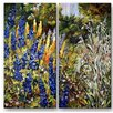 All My Walls 'Summer Garden' by Ingrid Dohm 2 Piece Painting Print Plaque Set
