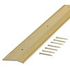 """M-d Products 0.13"""" x 1.38"""" x 36"""" Carpet Stair Nose in Satin Brass"""