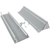 M-d Products Silver Mail Slot with Hood (Set of 3)