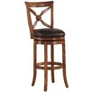 """American Woodcrafters Provence 26"""" Swivel Bar Stool with Cushion"""