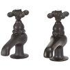 Elizabethan Classics Bathroom Faucet Set with Metal Cross Handles