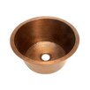 "Belle Foret 17.75"" x 17.75"" Large Round Bar Sink with Flat Bottom"