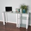 RTA Home And Office White Lines Writing Desk