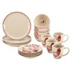 BonJour Chanticleer Country 16 Piece Stoneware Dinnerware Set