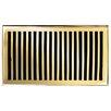 "Brass Elegans 7"" x 11"" Solid Cast Brass Floor Register Trim in Polished Brass"