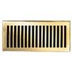 "Brass Elegans 5"" x 11"" Solid Cast Brass Floor Register Trim in Polished Brass"