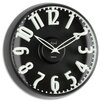 "Opal Luxury Time Products 12.8"" Raised Figures Dome Glass Wall Clock"