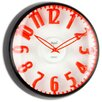 """Opal Luxury Time Products 12.8"""" Raised Figures Dome Glass Wall Clock"""