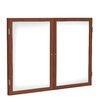 Ghent 2 Door Wood Frame Enclosed Porcelain Magnetic Whiteboard
