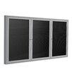 Ghent 3-Door Aluminum Frame Enclosed Letter Board