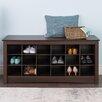 Prepac Sonoma Cubbie Storage Bedroom Bench
