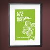 Checkerboard, Ltd Personalized Life is a Garden Framed Graphic Art