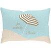 Checkerboard, Ltd Sandy Footprints for 4 Outdoor Lumbar Pillow