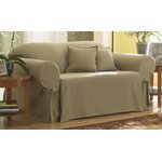 Sure Fit Cotton Duck Loveseat T Cushion Slipcover
