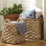 Birch Lane Seagrass Braided Baskets (Set of 2)