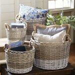 Birch Lane Willow Handled Baskets (Set of 4)