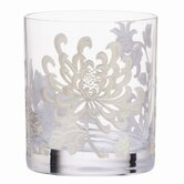 Painted Camellia Marchesa Crystal Double Old Fashioned Glass