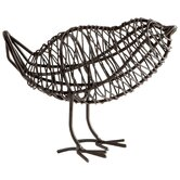 Small Bird on A Wire Sculpture