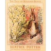 Bunnies in Garden Canvas Art