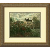 'The Artist's Garden at Argenteuil' by Claude Monet Framed Painting Print
