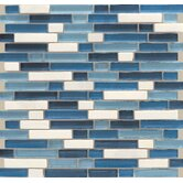 Legacy Random Sized Glass MosaicTile in Ocean Blend