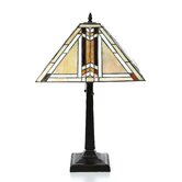 "Tiffany 23"" H Table Lamp with Empire Shade"