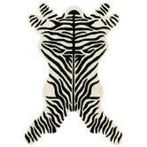Safari Zebra Black/White Area Rug