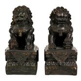2 Piece Foo Dog Figurine Set