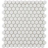 """Retro 0.875"""" x 0.875"""" Porcelain Mosaic Tile in White"""