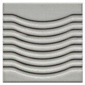 Mercury Wave Porcelain Glazed Wall Tile in Silver