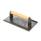 Rectangular Cast Iron Grill Press with Wood Handle
