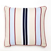 Classic Stars & Stripes Preppy Stripe Cotton Throw Pillow