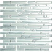 Brushstrokes Bianco Random Sized Glass Mosaic Tile in White