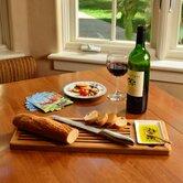 Bamboo Cheese Sets Bread and Dip Board Set