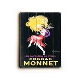 Cognac Monnet Planked Vintage Advertisement Plaque