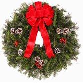 """""""Traditional"""" Fresh Wreath"""