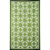 Bali Reversible Design Green/White Outdoor Area Rug