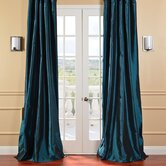 Faux Solid Taffeta Single Curtain Panel